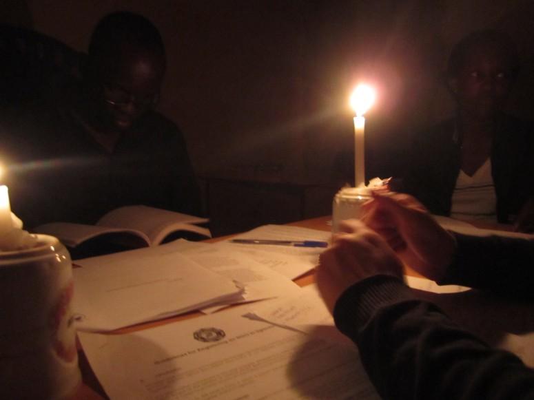 Candlelit meeting